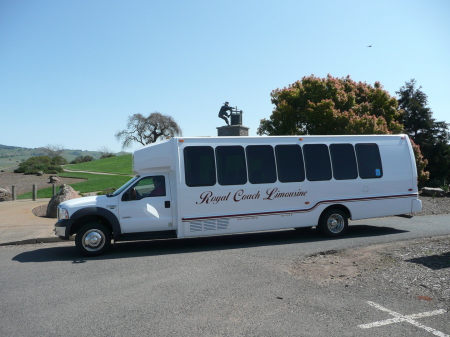 Wedding transportation in the Sonoma and Napa Valleys