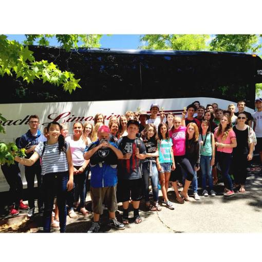 Sonoma and Napa Valley charter buses for schools and churches